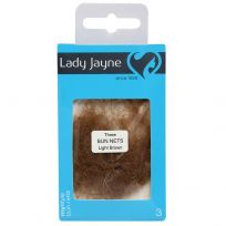 Lady Jayne 3437 Bun Nets Light Brown 3 Pack
