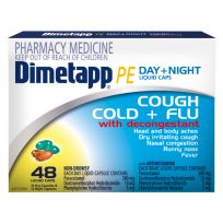 Dimetapp PE Cough, Cold + Flu Day+ Night 48 Liquid Capsules