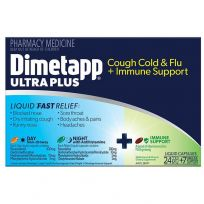 Dimetapp Ultra Plus Cold & Flu + Immune Support 24 + 7 Capsules