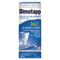 Dimetapp Kids Cold & Allergy Colour Free 6 Years + 200ml