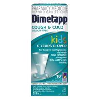 Dimetapp Kids Cough & Cold Colour Free 6 Years + 200ml