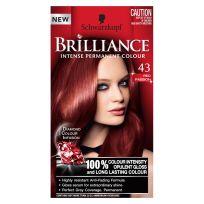 Schwarzkopf Brilliance Permanent Hair Colour 43 Red Passion