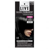 Schwarzkopf Live Salon Permanent Hair Colour 1.0 Black