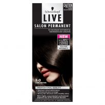 Schwarzkopf Live Salon Permanent Hair Colour 3.0 Dark Brown