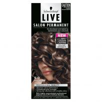 Schwarzkopf Live Salon Permanent Hair Colour 5.0 Light Brown