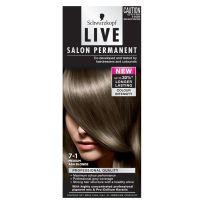 Schwarzkopf Live Salon Permanent Hair Colour 7.1 Medium Ash Blonde