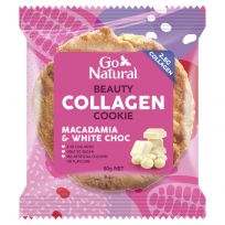 Go Natural Beauty Collagen Cookie Macadamia and White Choc 50g
