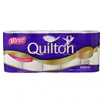 Quilton Toilet Paper Tissue 3 Ply White 10 Pack