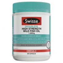 Swisse Ultiboost Odourless High Strength Wild Fish Oil 200 Capsules
