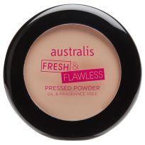 Australis Fresh & Flawless Pressed Powder Deep Natural 12g