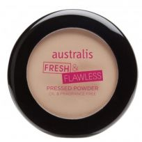 Australis Fresh & Flawless Pressed Powder Light Beige 12g