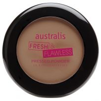 Australis Fresh & Flawless Pressed Powder Medium Tan 12g