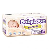 BabyLove Premmie Nappies Unisex 30 Pack