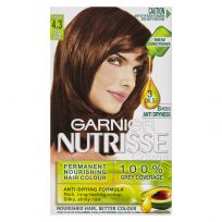 Garnier Nutrisse Hair Colour 4.3 Cappuccino Dark Golden Brown