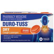 Duro Tuss Dry Cough Lozenges Orange 24 Pack