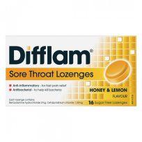 Difflam Sore Throat Lozenges Honey & Lemon 16 Pack