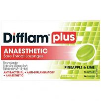Difflam Plus Anaesthetic Lozenges Pineapple Lime 16 Pack