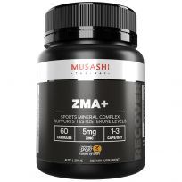Musashi ZMA + Mineral Blend 60 Capsules
