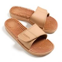 Maseur Invigorating Massage Sandal Beige Size 9