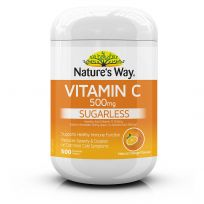 Nature's Way Vitamin C 500mg 500 Chewable Tablets
