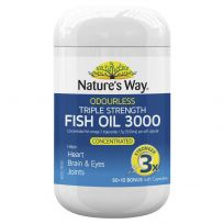 Nature's Way Odourless Triple Strength Fish Oil 60 Capsules