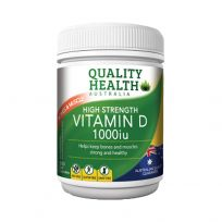 Quality Health Vitamin D 1000iu 300 Capsules