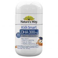 Nature's Way Kids Smart Chewable Triple Strength DHA 300mg 50 Capsules