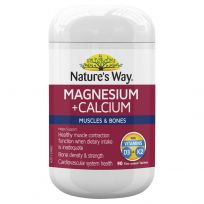 Nature's Way Magnesium + Calcium 90 Tablets