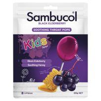Sambucol Kids Black Elderberry Soothing Throat Pops 8 Pack