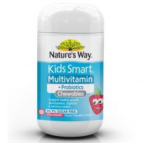 Nature's Way Kids Smart Multivitamin + Probiotics 50 Chewable Tablets