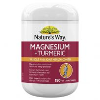 Nature's Way Magnesium + Turmeric 150 Tablets