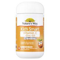 Nature's Way Kids Smart Vit C + Zinc + D 75 Chewable Tablets