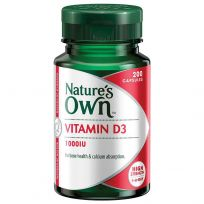 Nature's Own Vitamin D3 1000IU 200 Capsules