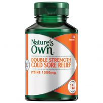 Nature's Own Double Strength Cold Sore Relief Lysine 1000mg 100 Tablets