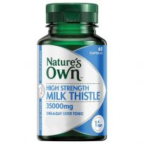 Nature's Own High Strength Milk Thistle 35,000mg 60 Capsules