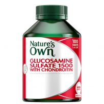 Nature's Own Glucosamine Sulfate + Chondroitin 100 Tablets