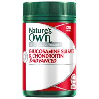 Nature's Own Glucosamine Sulfate + Chondroitin Advanced 120 Tablets