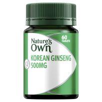 Nature's Own Korean Ginseng 500mg 60 Tablets
