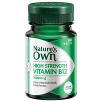 Nature's Own High Strength Vitamin B12 1000mcg 60 Tablets