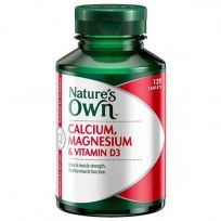 Nature's Own Calcium, Magnesium & Vitamin D3 120 Tablets