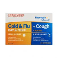 Pharmacy Choice PE Cold & Flu + Cough Day & Night 24 Capsules