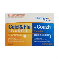 Pharmacy Choice PE Cold & Flu + Cough Day & Night 48 Capsules