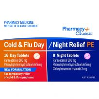 Pharmacy Choice PE Cold & Flu Day Night 24 Tablets