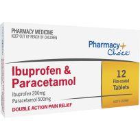 Pharmacy Choice Ibuprofen + Paracetamol 12 Tablets