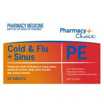 Pharmacy Choice PE Cold & Flu + Sinus 24 Tablets