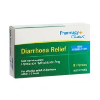 Pharmacy Choice Diarrhoea Relief 8 Capsules