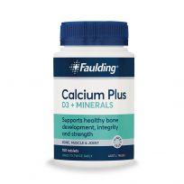 Faulding Remedies Calcium Plus D3 + Minerals 100 Tablets