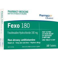 Pharmacy Choice Fexofenadine 180mg 10 Tablets