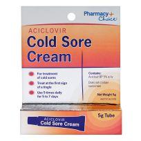 Pharmacy Choice Aciclovir Cold Sore Cream 5g