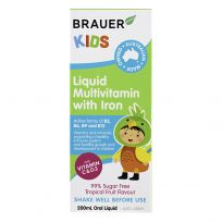 Brauer Kids Liquid Multivitamin with Iron 200ml